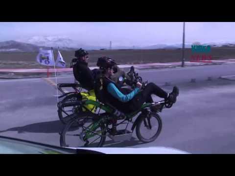 Round the world travel by recumbent bike