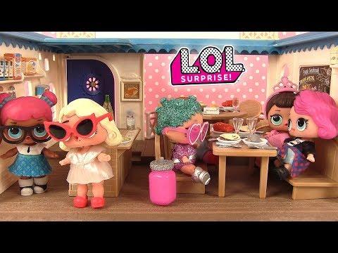 Histoires de Poupées LOL Surprise au Restaurant Surprise Série 2 Lil Sisters