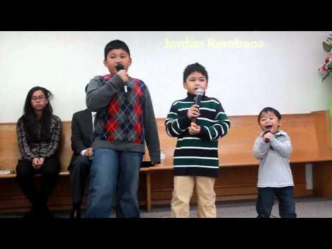 Marshall, Jordan and Kingsley singing
