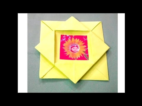 How to make paper photo frame/origami photo frame