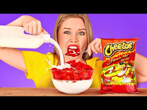 TRY NOT TO EAT || Last To STOP Eating Wins! Weird Food Combinations Challenge By 123 GO! FOOD