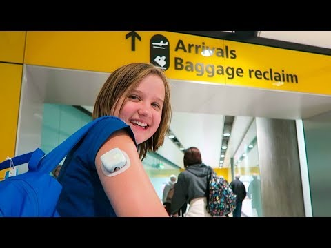 TRAVELING WITH AN OMNIPOD INSULIN PUMP TO THE UK | A DAY IN THE LIFE OF A TYPE 1 DIABETIC!