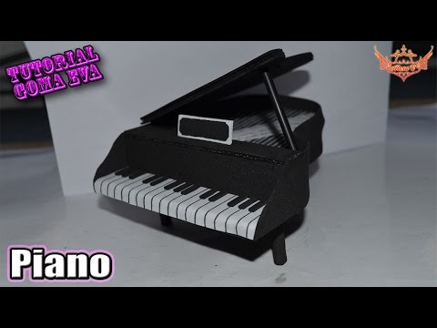 ♥ Tutorial: Piano de Goma Eva (Foamy) ♥