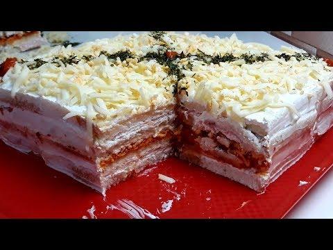 SLANA TORTA BEZ PEČENJA OD TOST HLEBA ZA 10 MINUTA SALTY CAKE FROM TOAST WITHOUT BAKING