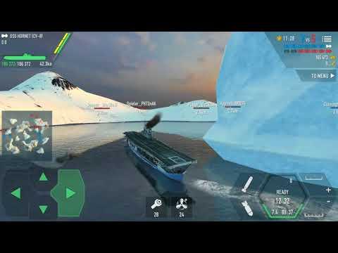 Battle of warships : Uss Hornet (cv-8)