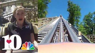 Wild ride on Dollywood's Lightning Rod roller coaster for a WBIR anchor
