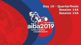 AIBA Men's World Boxing Championships 2019 Ekaterinburg. Day 10. Quarter-finals. Ring A