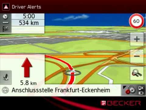 Becker Navigation: Fahrerwarnungen/ Driver Alerts