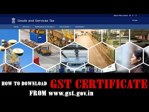 How to Download Gst Certificate For First Time USERS