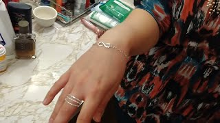 Infinity Symbol Silver Bracelet Unboxed & Tested By Baby Janey & MrAlanC