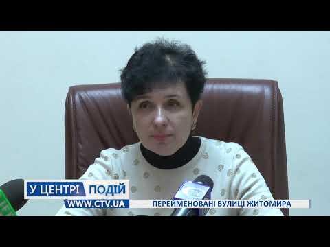 Телеканал C-TV: Перейменовані вулиці Житомира