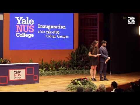 Inauguration of the Yale-NUS College Campus 2015