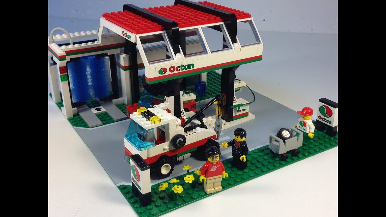 Lego Town 6397 Gas N Wash Express From 1992 Lego City