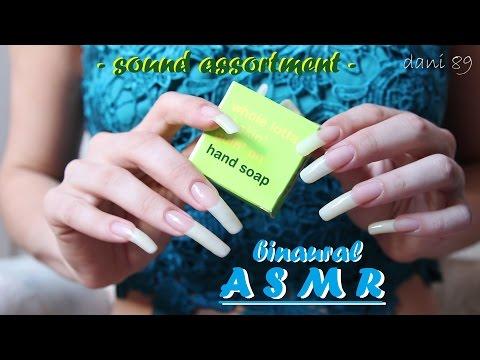 👂 ASMR: fast scraping & scratching soap 🎧 sound assortment * long natural nails * ☾ binaural sound ☽