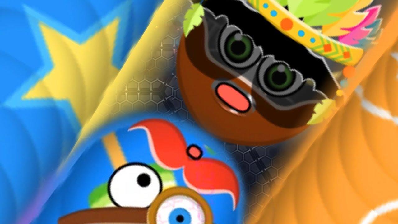 Wormate.io Giant Monster Worm Vs Strong Bad Worm/Legendary Pro Skill Biggest Worm Wormateio !
