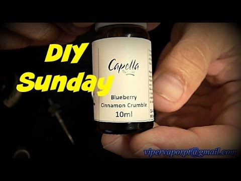 DIY eLiquid Sunday / Blueberry Cinnamon Muffin
