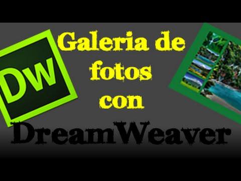 Como hacer una galeria de fotos en dreamweaver 30