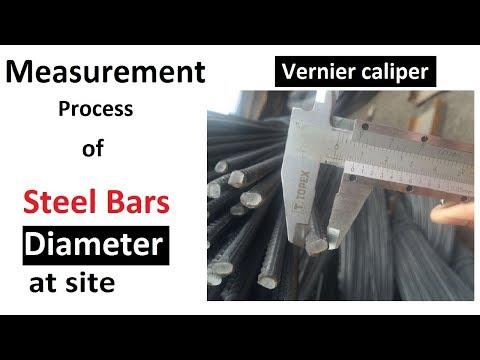 Diameter of the reinforcement measurement