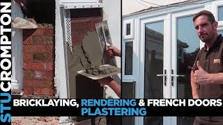 Bricklaying, Rendering Plastering, French doors and painting one job
