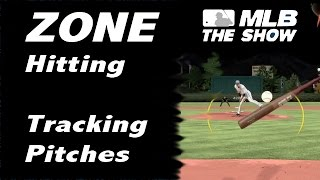 MLB 15 The Show - ZONE hitting tips (tracking pitches)