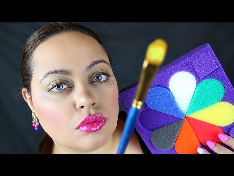 ASMR  Painting Your Face Roleplay - TINGLY Personal Attention & Layered Sounds