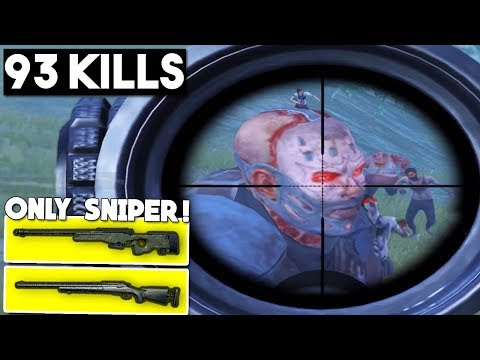 ONLY SNIPERS vs ZOMBIES & SQUADS | PUBG Mobile