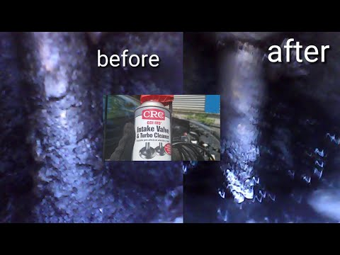 Crc intake valve and turbo cleaner borescope results before and after