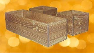 как сделать деревянный вазон