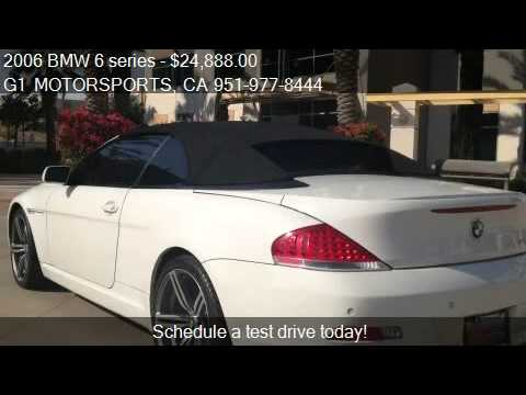 2006 Bmw 6 Series 650i Convertible For Sale In Riverside