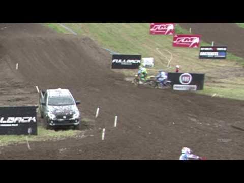 Romain Febvre crash Qualifying Race - FULLBACK MXGP of Great Britain 2016