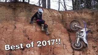 BEST OF 2017 | Dirt Bike crashes and funny moments!