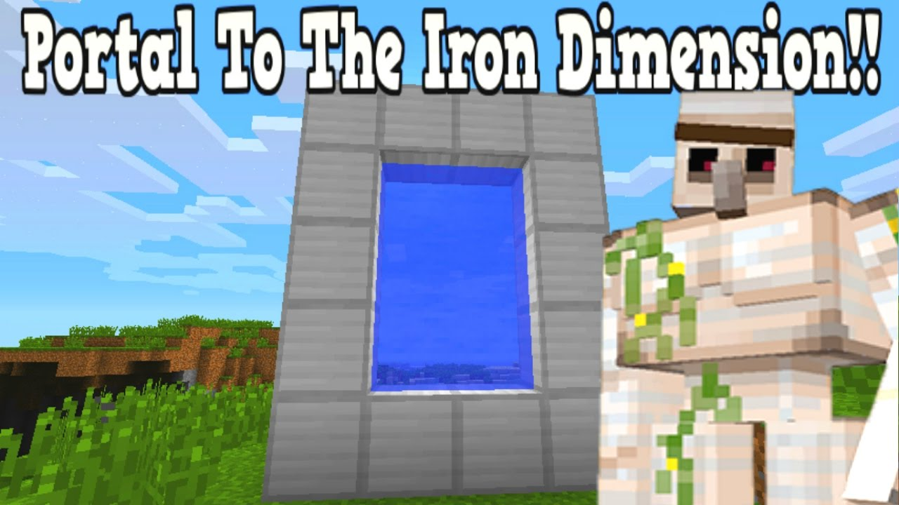 Captivating Minecraft How To Make A Portal To The Iron Dimension   Iron Dimension  Showcase!!!   YouTube