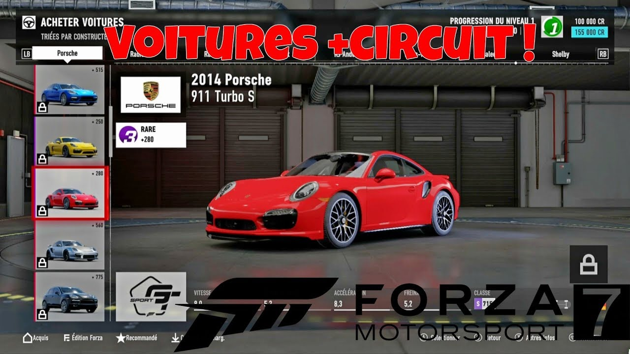 forza motorsport 7 liste de toutes les voitures youtube. Black Bedroom Furniture Sets. Home Design Ideas