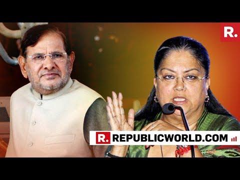 Sharad Yadav Resorts To Sexist Slur Against Rajasthan CM Vasundhara Raje