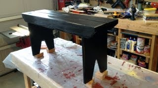 Project - How to make a 5-board bench