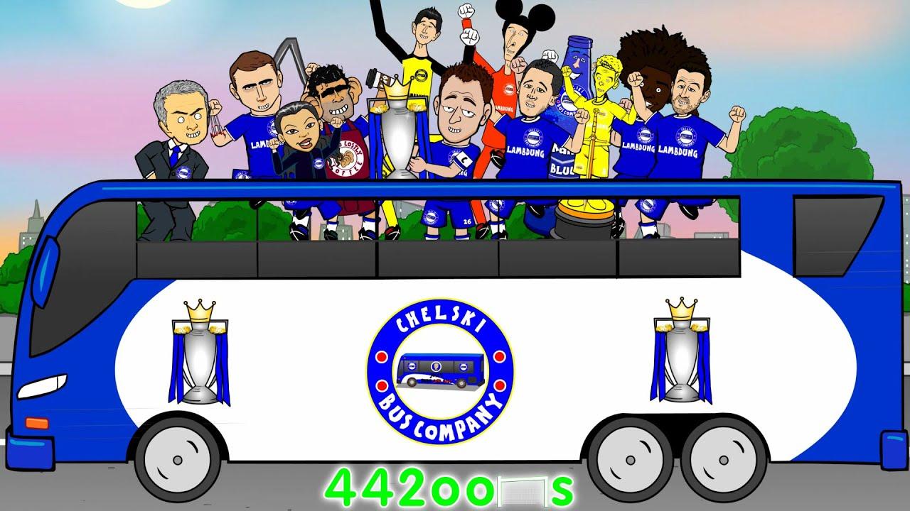 CHELSEA FC CHAMPIONS 2015 Mourinho TROLLS The LEAGUE Cartoon Premier League Title 14 15