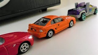 TOY CARS DRIVING ON TABLE Video For Kids