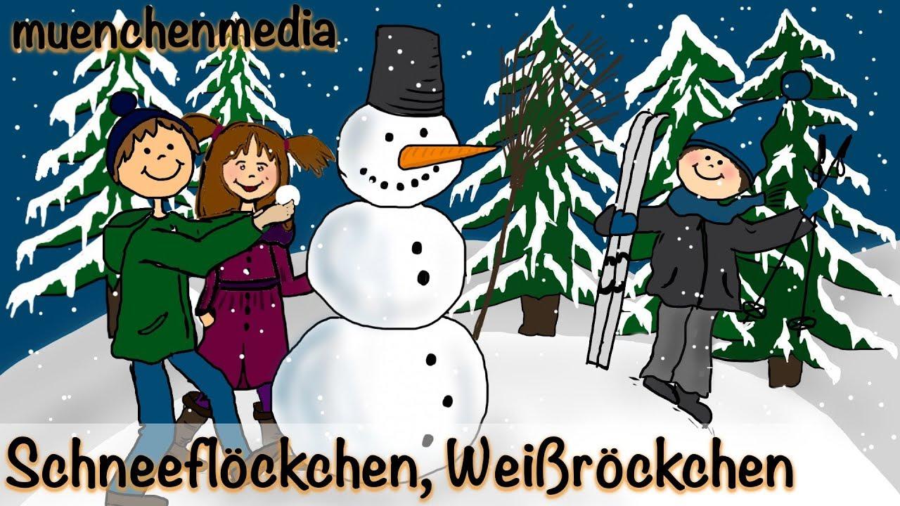 ⭐ Schneeflöckchen, Weißröckchen - Weihnachtslieder deutsch ...