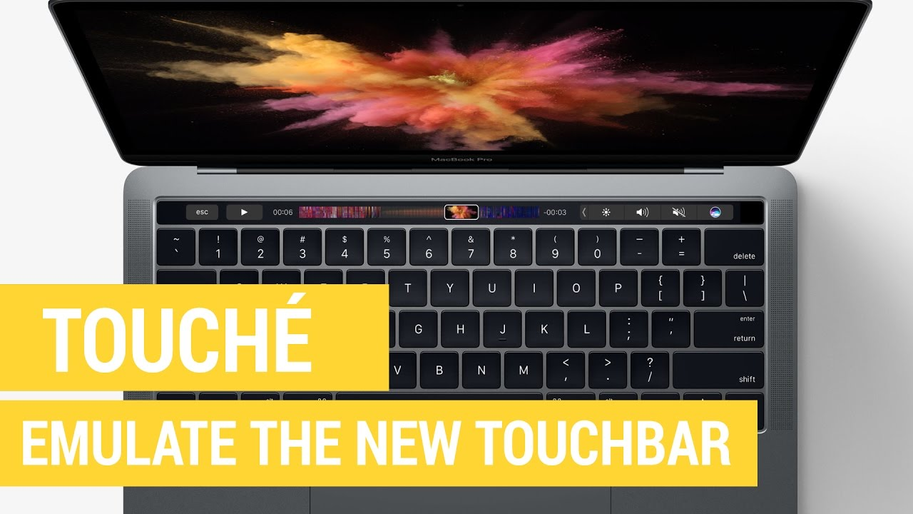 Emulate the MacBook Pro TouchBar with Touché - YouTube