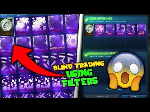 *OMG* BLIND TRADING WHILE USING FILTERS! - TITANIUM WHITE APEX ON THE LINE! (Rocket League)