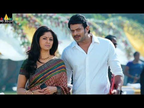 Mirchi Movie Prabhas and Nadiya Scene   Latest Telugu Movie Scenes   Sri Balaji Video