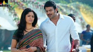 Mirchi Movie Prabhas and Nadhiya Scene | Latest Telugu Movie Scenes | Sri Balaji Video