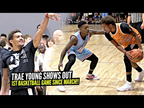 Trae Young SHOWS OUT In OKC Community Game!! 1ST REAL Basketball Game Since MARCH!!