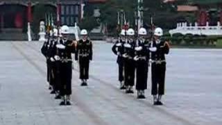 Guard changing at Zhong Lie Shi Taipei Taiwan