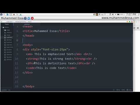 17   HTML⁄HTML5 Em,strong,samp,var,kdb,code