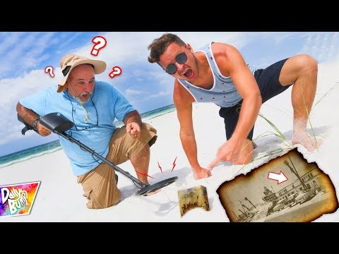 Exploring Mystery Box Found Buried on Beach!! (SAFE CLUE!)