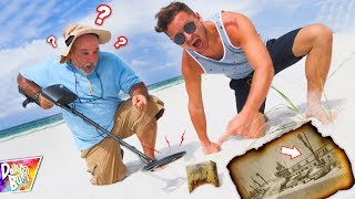 Exploring Abandoned Hotel Beach With Metal Detector! (SAFE CLUE!)