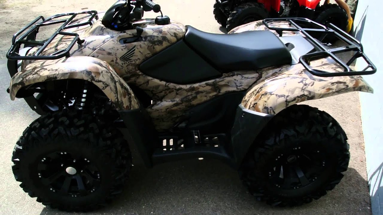 2013 Honda TRX 420 Rancher 4x4 CAMO Edition - YouTube