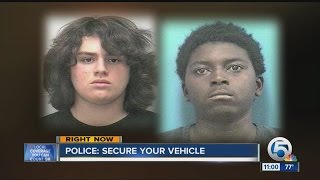 Morgan Bolanos and Lavonte Hill arrested in connection with Stuart, Florida car burglaries