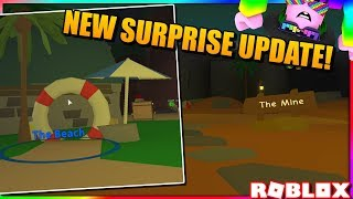 NEW SURPRISE UPDATE (BEACH UPDATE) - MINING SIMULATOR (PG STREAM) | ROBLOX STREAM WITH VIEWERS